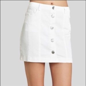 BCBGeneration White Button Up Mini Skirt
